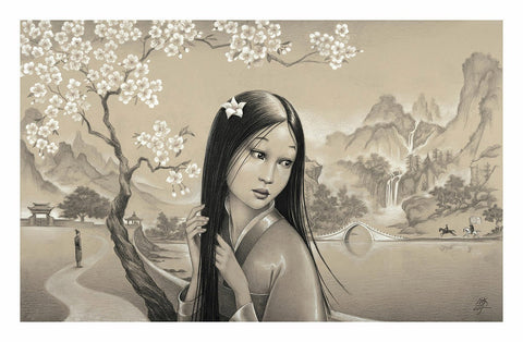 "Edson Campos Disney ""Mulan"" Limited Edition Paper Giclee"