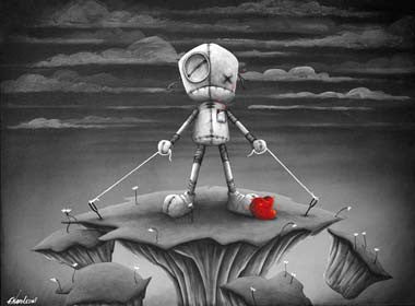 "Fabio Napoleoni-""Be strong and hold on "" - Limited AP Edition- 19"" by 24""- Paper Giclee Print - Art Center Gallery"