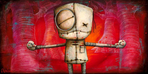 "Fabio Napoleoni- I love you this much  - Limited Edition (( METAL ))- 21"" by 9""- Edition of 350"