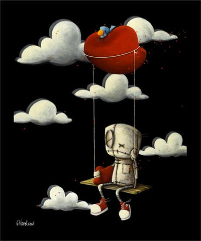"Fabio Napoleoni-""I am on My Way""- Limited Edition - 20"" by 25""- Canvas Giclee Print - Art Center Gallery"