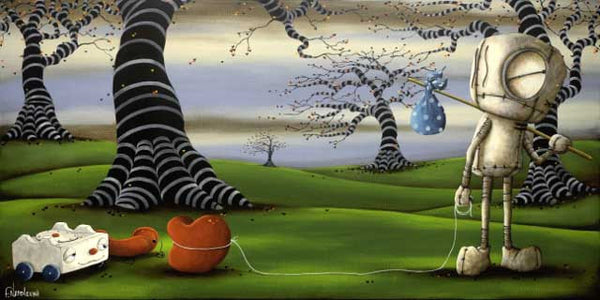 "Fabio Napoleoni-"" Hope to find what I've been looking for "" - Limited Edition SN 57-  Size 18"" by 36""- Canvas Giclee Print - Art Center Gallery"