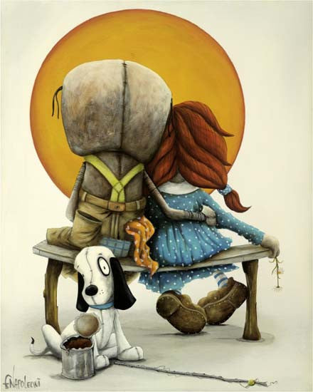 "Fabio Napoleoni-""Memories we treasure for life""- Limited Edition- 12"" by 15""- Canvas Giclee Print - Art Center Gallery"