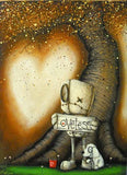 "Fabio Napoleoni-""In Need of Affection""- Limited Edition - 17.5"" by 25""- Paper Giclee Print. Framed - Art Center Gallery"