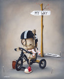 "Fabio Napoleoni-""Defiant""- Limited SN Edition of  225 - 22"" by 27""  Paper - Art Center Gallery"