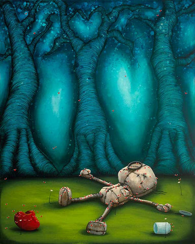 "Fabio Napoleoni-""When Love Bugs Bite""- Limited SN Edition of 98 16"" by 20"" Canvas - Art Center Gallery"