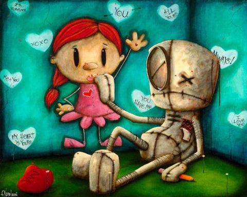 "Fabio Napoleoni-""Your just what I needed""- Limited AP Edition 18/21- 18"" by 23.5""- Canvas Giclee - Art Center Gallery"