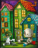 "Fabio Napoleoni-"" In case of Emergency "" - Limited Edition of 47- 20"" by 25""- Paper Giclee Print - Art Center Gallery"
