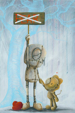 "Fabio Napoleoni ""No Place for you Here"" Ltd Itty Bitty Paper SN 13"" by 18"""