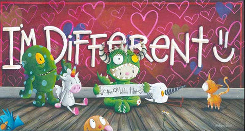 "Fabio Napoleoni-"" I'm Different ""- Limited SN Edition of 275  8"" by 15"" Paper - Art Center Gallery"