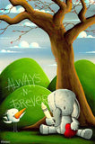 "Fabio Napoleoni-""On my Mind"" - Limited Edition PP- 17"" by 26""-  Paper Giclee Print. - Art Center Gallery"
