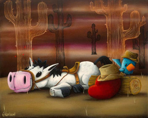 "Fabio Napoleoni ""Sweet Little Cowboy Dreamer"" Limited Edition Canvas Giclee"