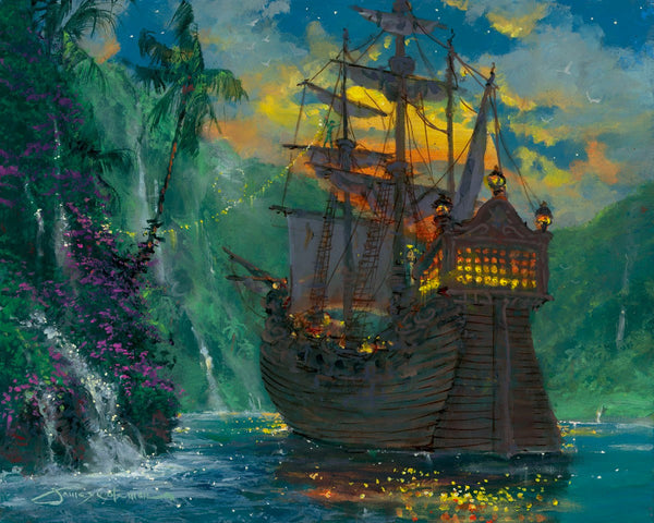 "James Coleman Disney ""Neverland Bay"" Limited Edition Canvas Giclee"