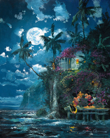 "James Coleman Disney ""Night Fishin' in Paradise"" Limited Edition Canvas Giclee"