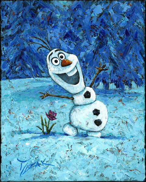 "Trevor Mezak Disney ""Olaf"" Limited Edition Canvas Giclee"