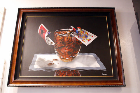 "Michael Godard ""Jack and Coke"" Original on Canvas"