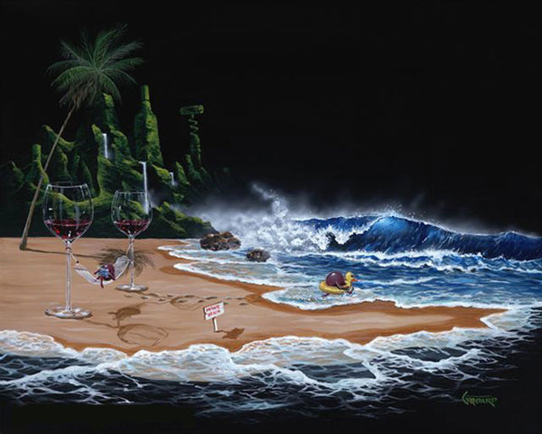 "Michael Godard ""Paradise"" Limited Edition Canvas Giclee"