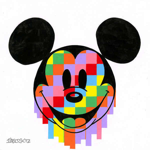"Tennessee Loveless Disney ""Pixel Drip Mickey"" Limited Edition Canvas Giclee"