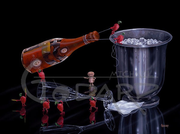 "Michael Godard ""Prepare the Perfect Pour"" Limited Edition Canvas Giclee"