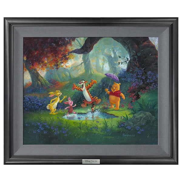 "Michael Humphries Disney ""Puddle Jumping"" Limited Edition Canvas Giclee"