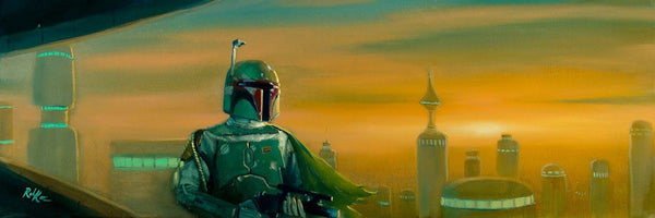 "Star Wars-""Bespin Bounty Hunter""  Canvas 10"" by 30""  Limited-195 PRICING 1-866-254-6523 - Art Center Gallery"