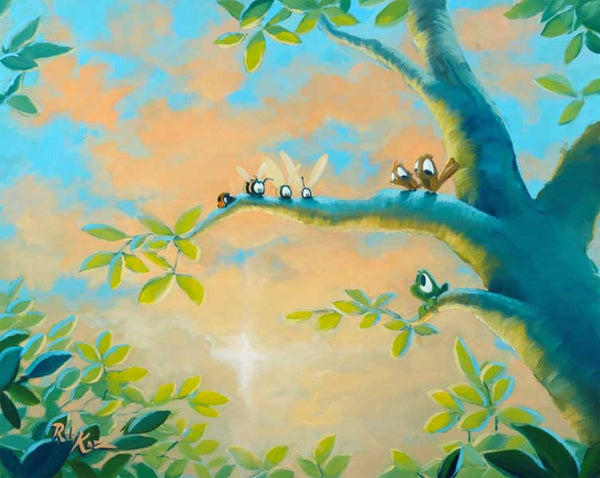 "Rob Kaz- ""Family Tree"" Giclee Canvas 16"" by 20"" Limited of 195   PRICING 1-866-254-6523 - Art Center Gallery"