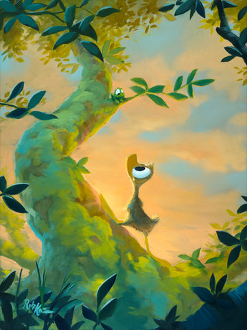 "Rob Kaz- ""Up in the tree"" Giclee Canvas 16"" by 20"" Limited-195 PRICING 1-866-254-6523 - Art Center Gallery"