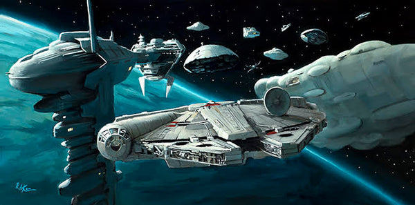 "Rob Kaz ""Rebel Fleet Arrives"" Limited Edition Canvas Giclee"