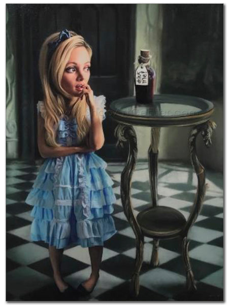 "Richard J. Oliver ""Drink Me"" Limited Edition Canvas Giclee"