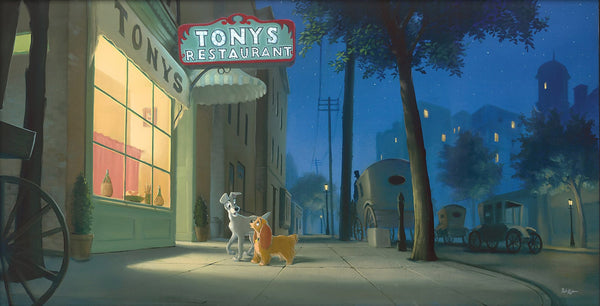 "Rob Kaz Disney ""A Night With Lady"" Limited Edition Canvas Giclee"
