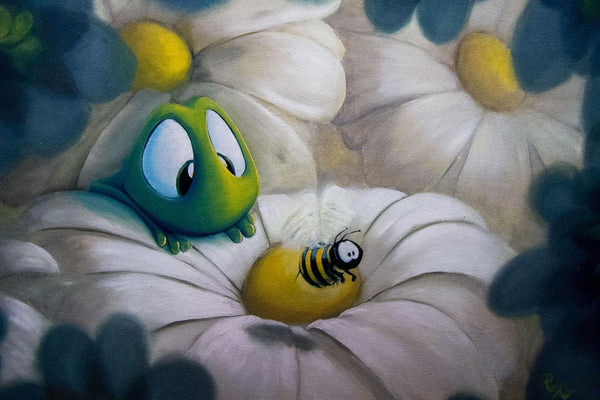 "Rob Kaz ""Busy Bee"" Canvas Giclee"