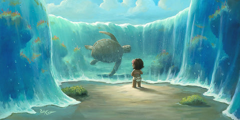"Rob Kaz Disney ""Moana's New Friend"" Limited Edition Canvas Giclee"