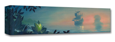"Rob Kaz Disney ""Neverland Lagoon"" Limited Edition Canvas Giclee"