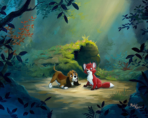 "Rob Kaz Disney ""New Found Friend in the Forest"" Limited Edition Canvas Giclee"