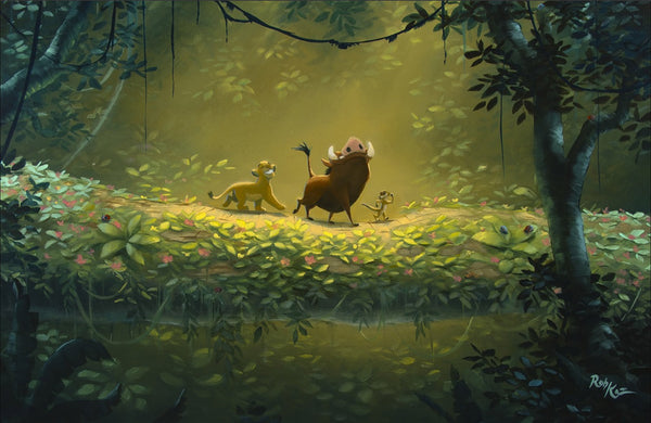 "Rob Kaz Disney ""No Worries"" Limited Edition Canvas Giclee"