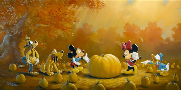 "Rob Kaz Disney ""Picking the Perfect Pumpkin"" Limited Edition Canvas Giclee"