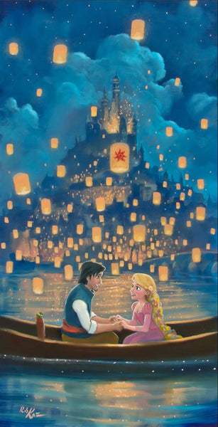 "Rob Kaz Disney ""Star Crossed Love"" Limited Edition Canvas Giclee"
