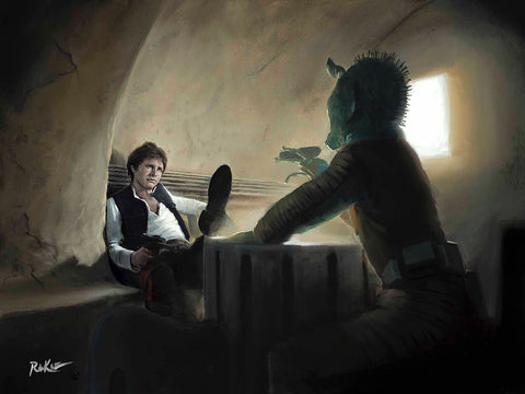 "Rob Kaz Star Wars ""A Long Time Waiting"" Limited Edition Canvas Giclee"
