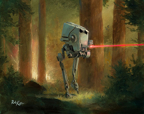 "Rob Kaz Star Wars ""AT-ST Attacks"" Limited Edition Canvas Giclee"
