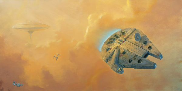 "Rob Kaz Star Wars ""Escape from Cloud City"" Limited Edition Canvas Giclee"