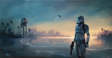 "Rob Kaz Star Wars ""Scarif Forces"" Limited Edition Canvas Giclee"