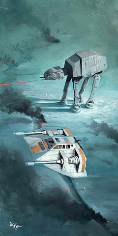 "Rob Kaz Star Wars ""Snow Speeder Fly Over"" Limited Edition Canvas Giclee"