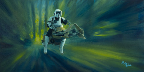 "Rob Kaz Star Wars ""Speed Chase"" Limited Edition Canvas Giclee"