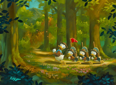 "Rob Kaz Disney ""The Good Scouts"" Limited Edition Canvas Giclee"