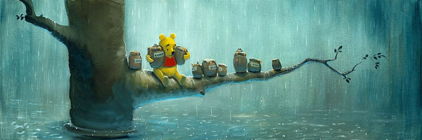 "Rob Kaz Disney ""Waiting Out the Rain"" Limited Edition Canvas Giclee"
