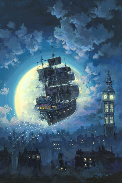 "Rodel Gonzalez Disney ""Sailing Into the Moon"" Limited Edition Canvas Giclee"