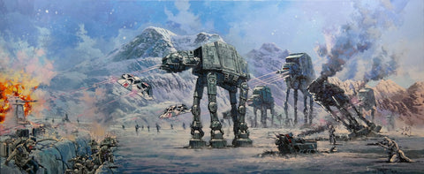 "Rodel Gonzalez Star Wars ""Battle of Planet Hoth"" Limited Edition Canvas Giclee"