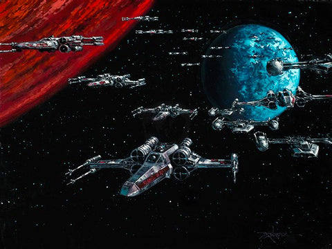 "Rodel Gonzalez Star Wars ""Battle of Yavin"" Limited Edition Canvas Giclee"