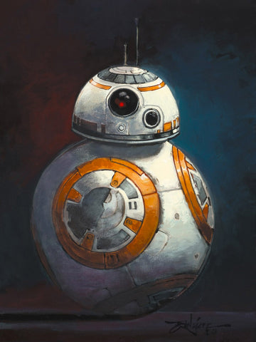 "Rodel Gonzalez Star Wars ""BB-8"" Limited Edition Canvas Giclee"