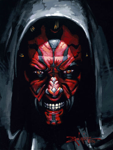 "Rodel Gonzalez Star Wars ""Darth Maul"" Limited Edition Canvas Giclee"