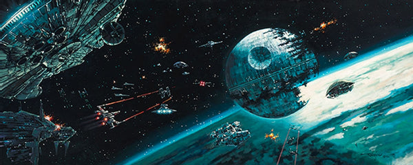 "Rodel Gonzalez Star Wars ""Death Star Final Battle"" Limited Edition Canvas Giclee"